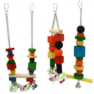 Beaks Wooden Hanging Bird Toy (Choice of 3)