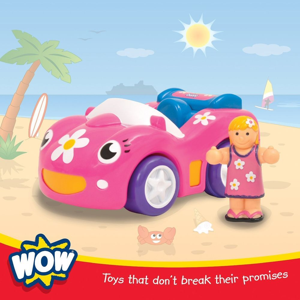 WOW Toys Dynamite Daisy Push And Go Toy Sports Car With Figure