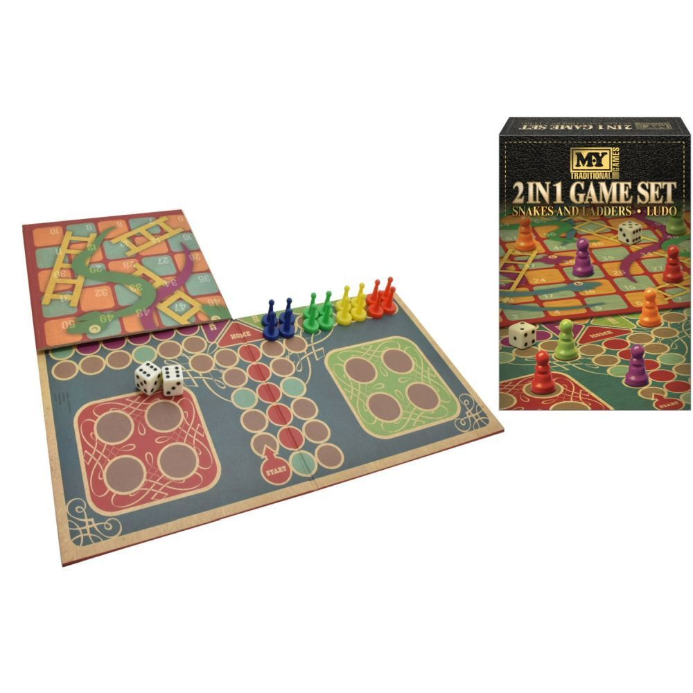 M.Y 2 In 1 Snakes & Ladders & Ludo Game