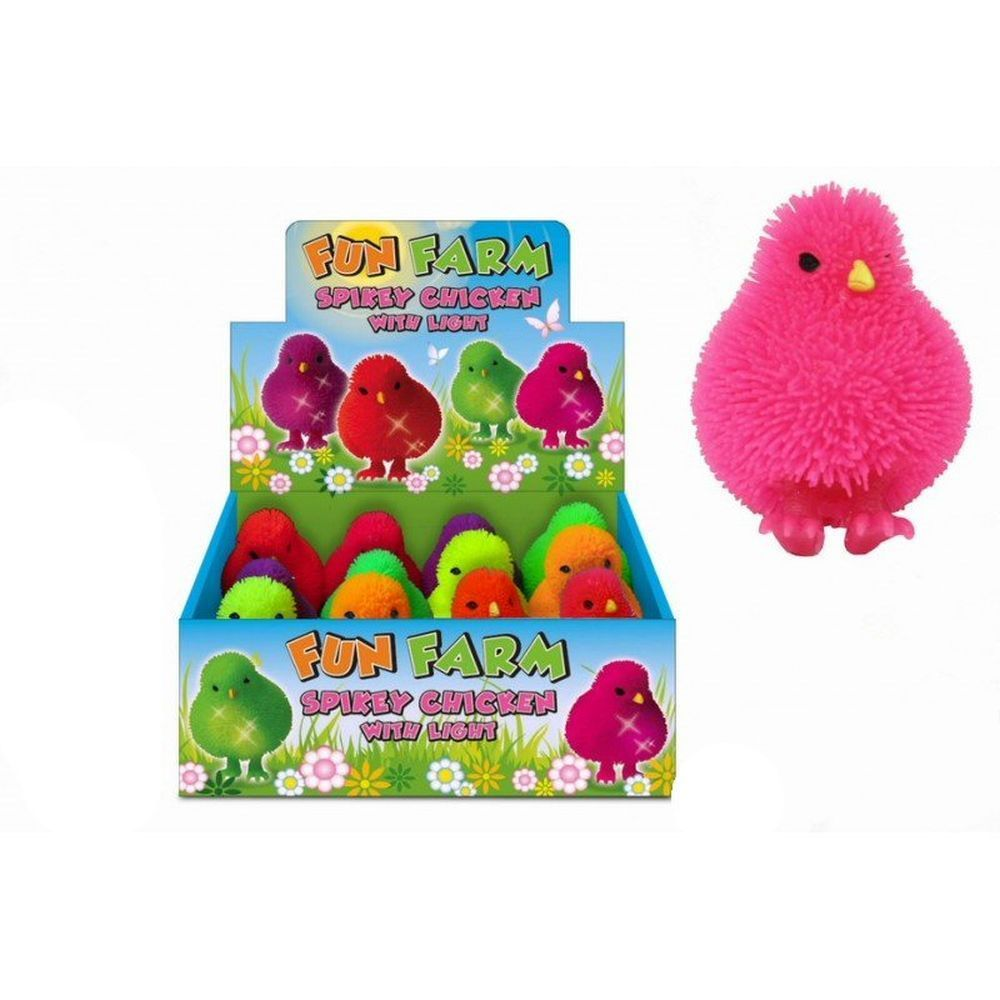 Fun Farm Spikey Chicken with Light (Assorted Colours)