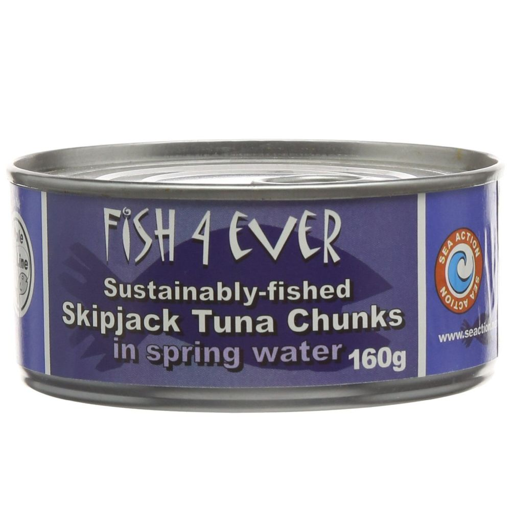Fish 4 Ever Skipjack Tuna Chunks 160g