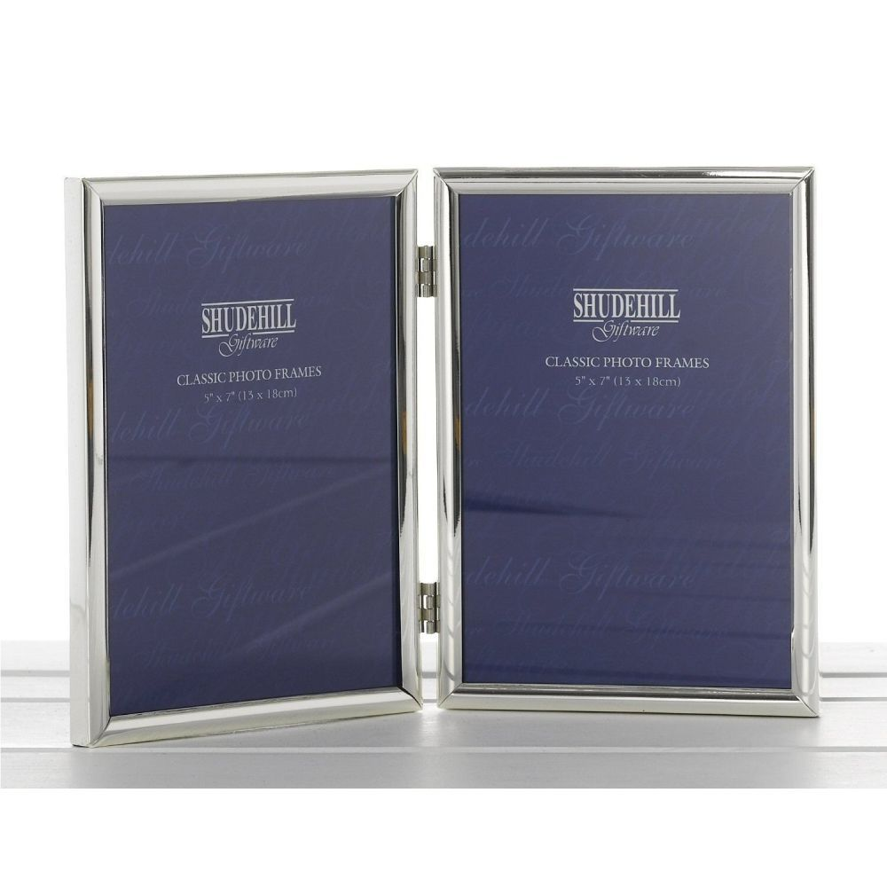 Silver Plated Double 5x7 Photo Frame