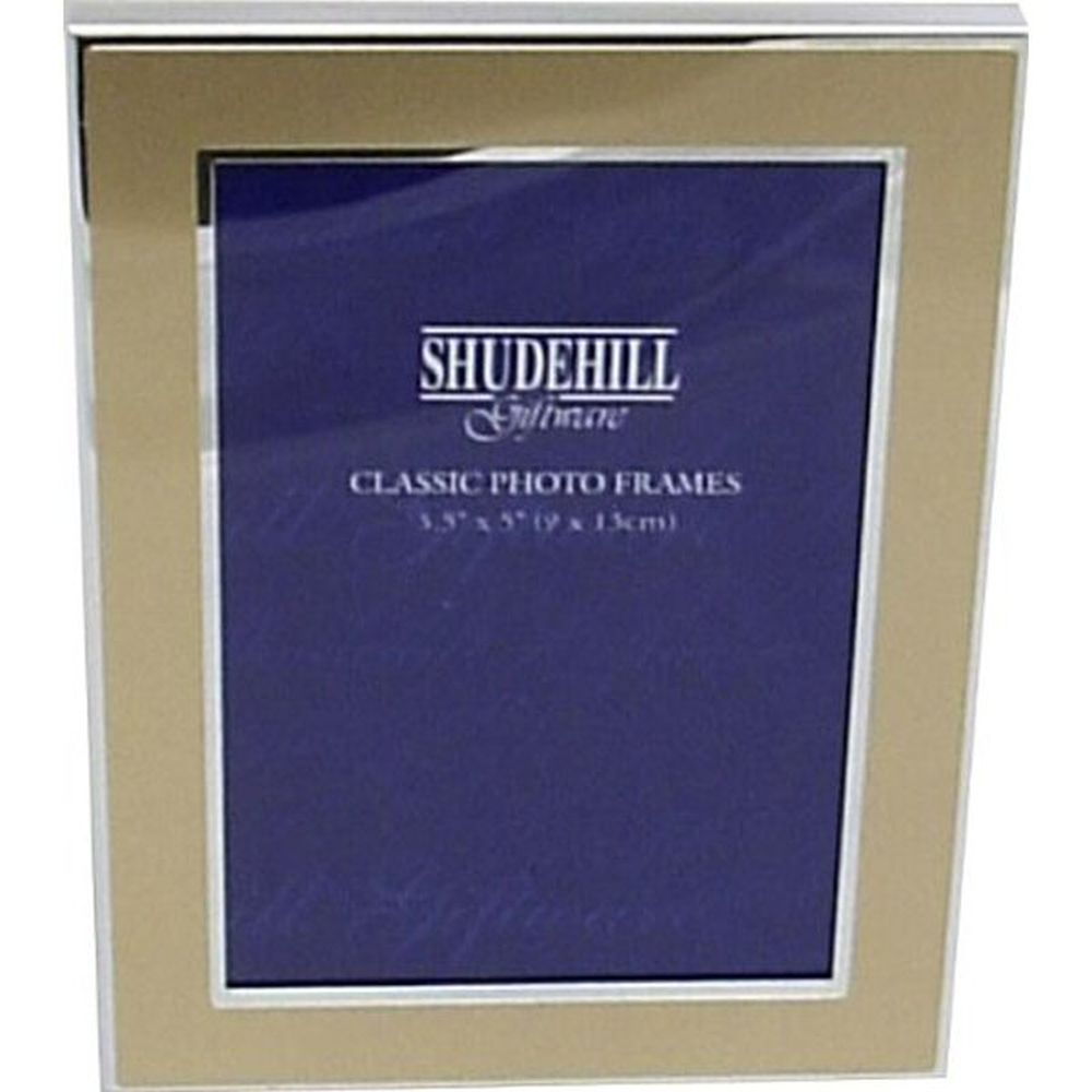 Gold Coloured Sliver Plated 3x5 Photo Frame
