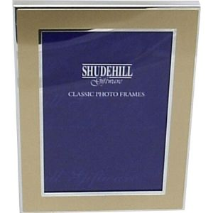 18cm Gold Coloured Sliver Plated Photo Frame (Size 5x7)