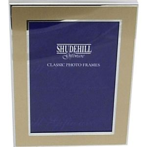 20cm Gold Coloured Sliver Plated Photo Frame (Size 6x8)