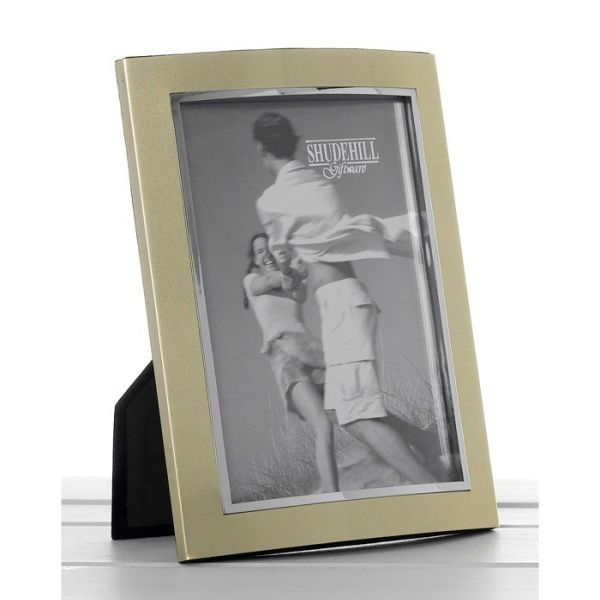 Gold Anodised Frame 6x8 23 X 17cm Picture Frames Old Railway