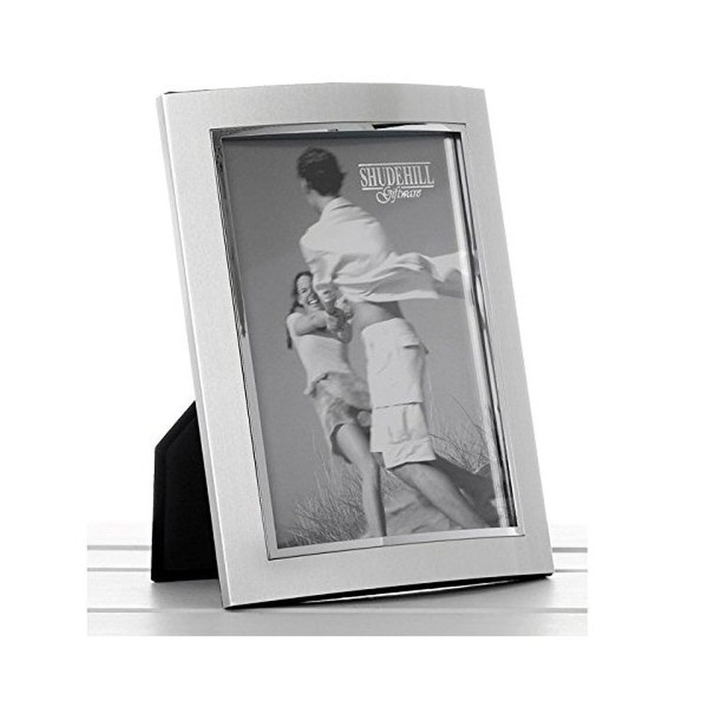 Silver Anodised Curved 6x8 Photo Frame