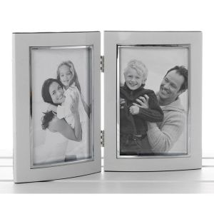 White 4 x 6 Anodised Promotion Double Frame