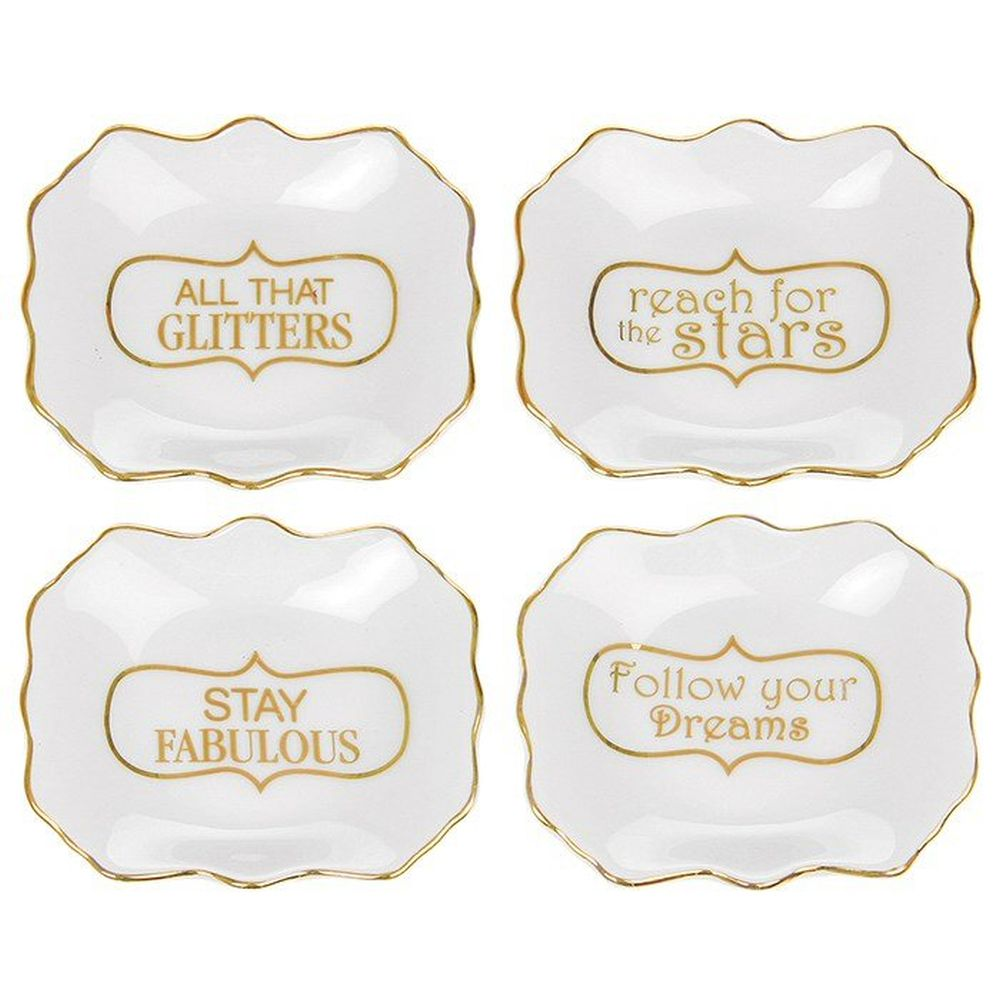 Halcyon Words Ornate Trinket Dish (Choice of 4)