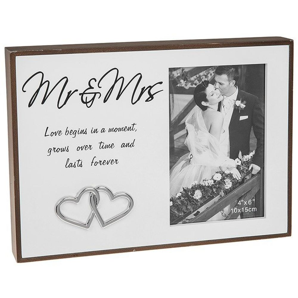 Love Lines Mr And Mrs 4x6 Frame