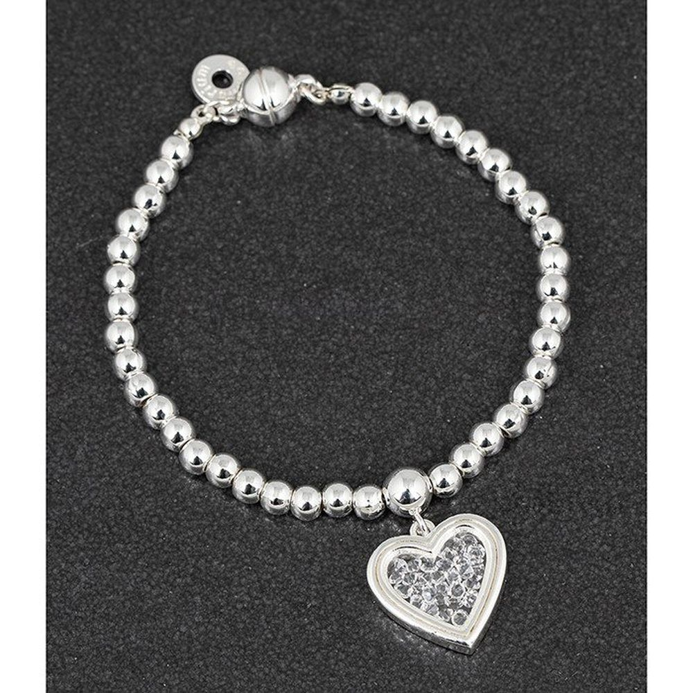 CC Crystal Fill Heart SP Bracelet