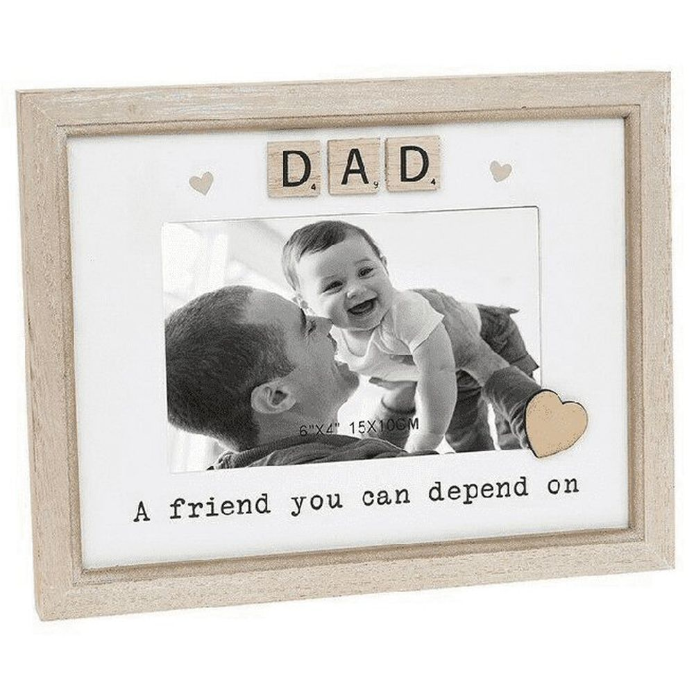 Scrabble Sentiments 6x4 Dad Wooden Photo Frame
