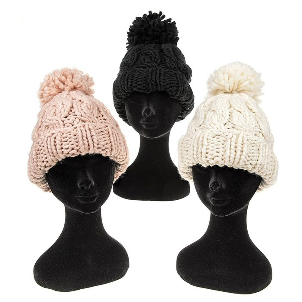 Equilibrium 26cm Cable Knit pom Pom Hat (Choice of 3)
