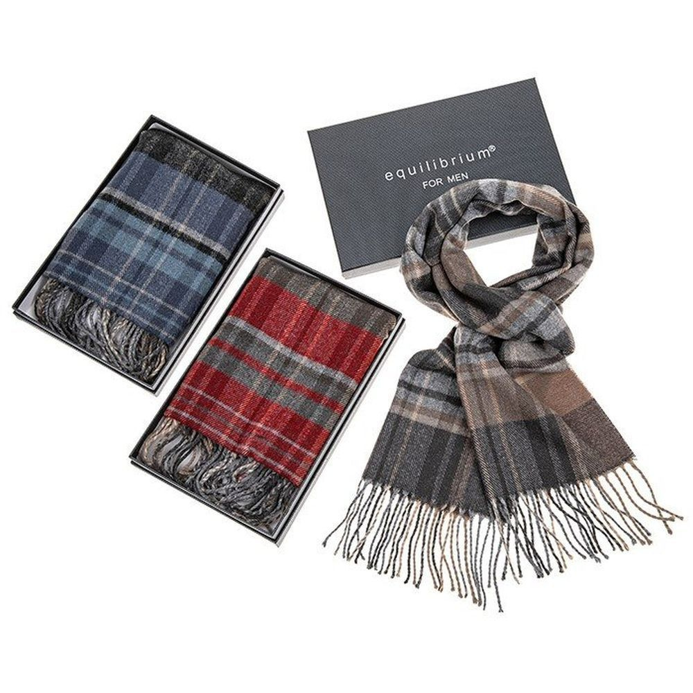 Equilibrium Men Checked Scarf (Choice of 3)