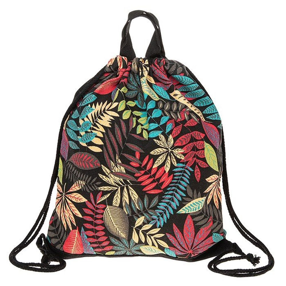 Red Leaves Drawstring Bag