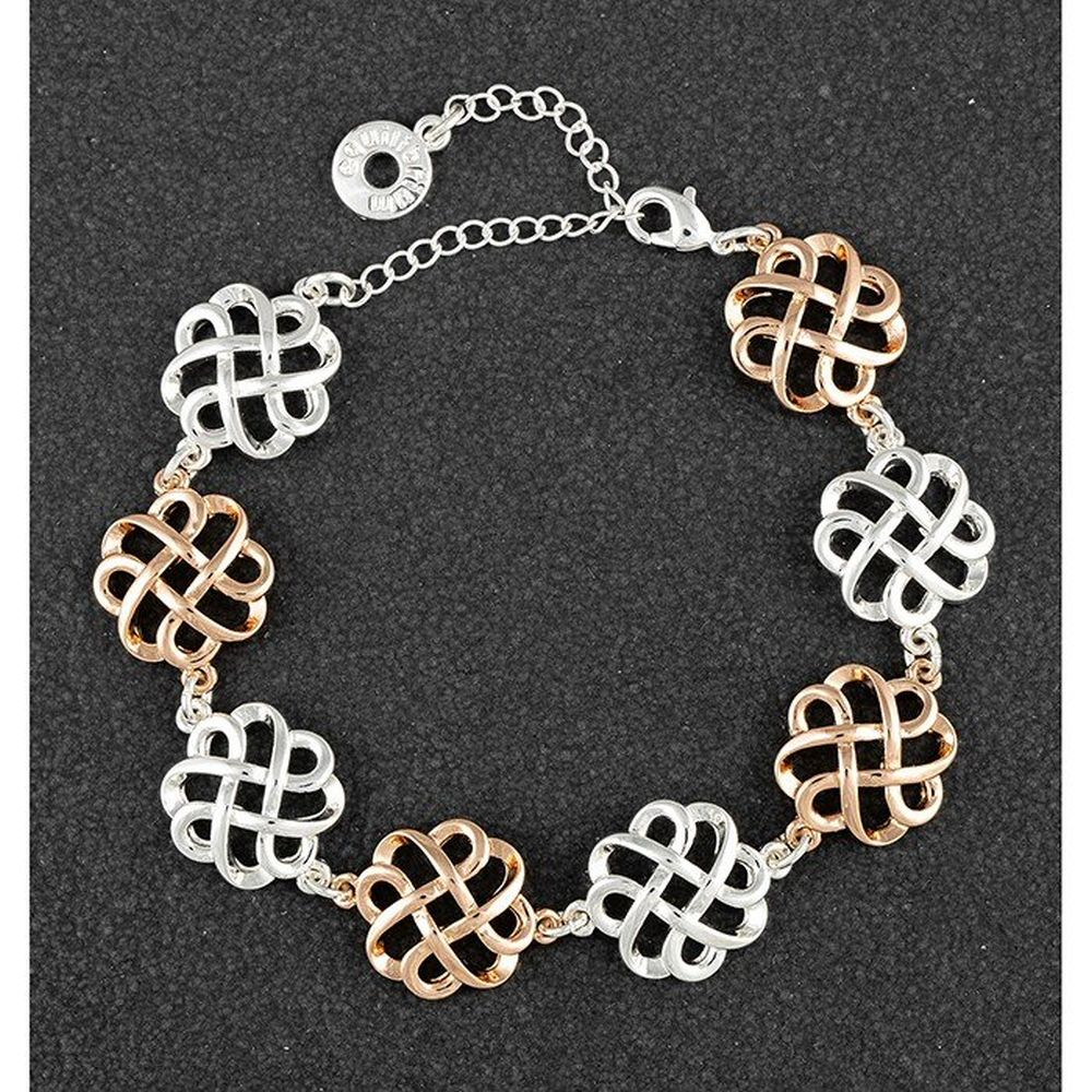 Celtic Knots Two Tone Bracelet