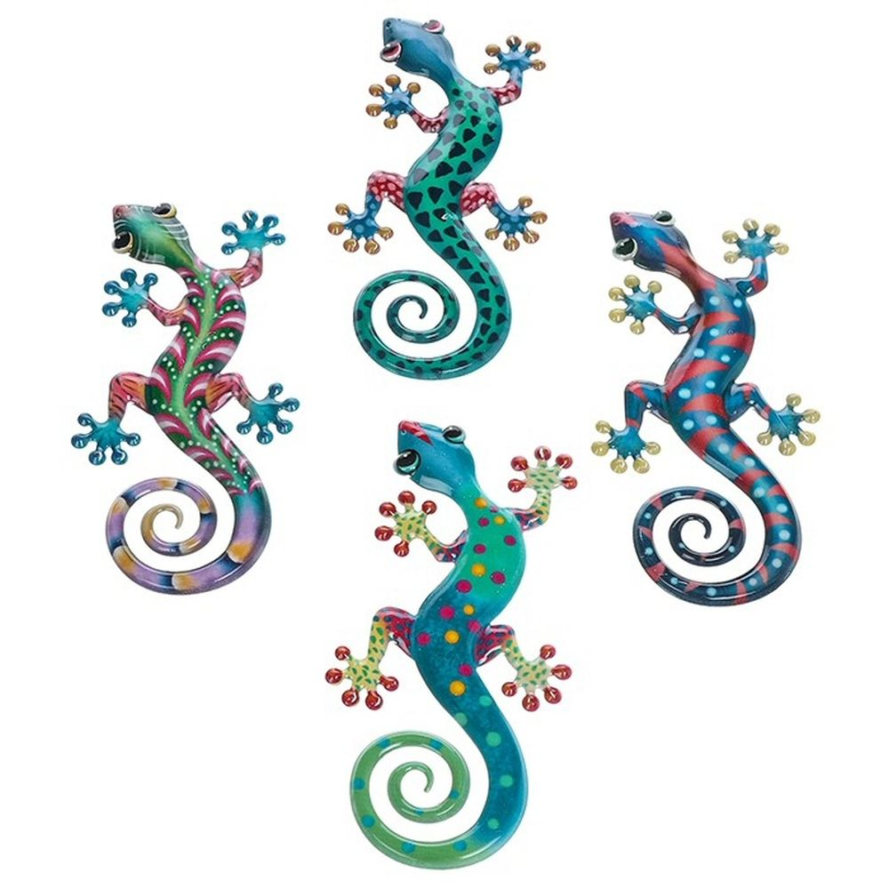 Frogs & Geckos 20cm Bright Metal Pattern Gecko (Choice of 4)