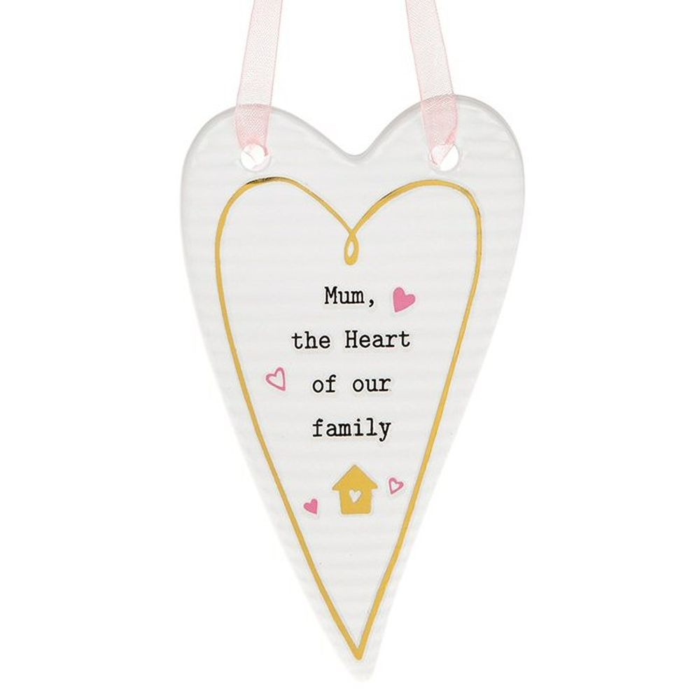 Thoughtful Words Mum Heart Plaque