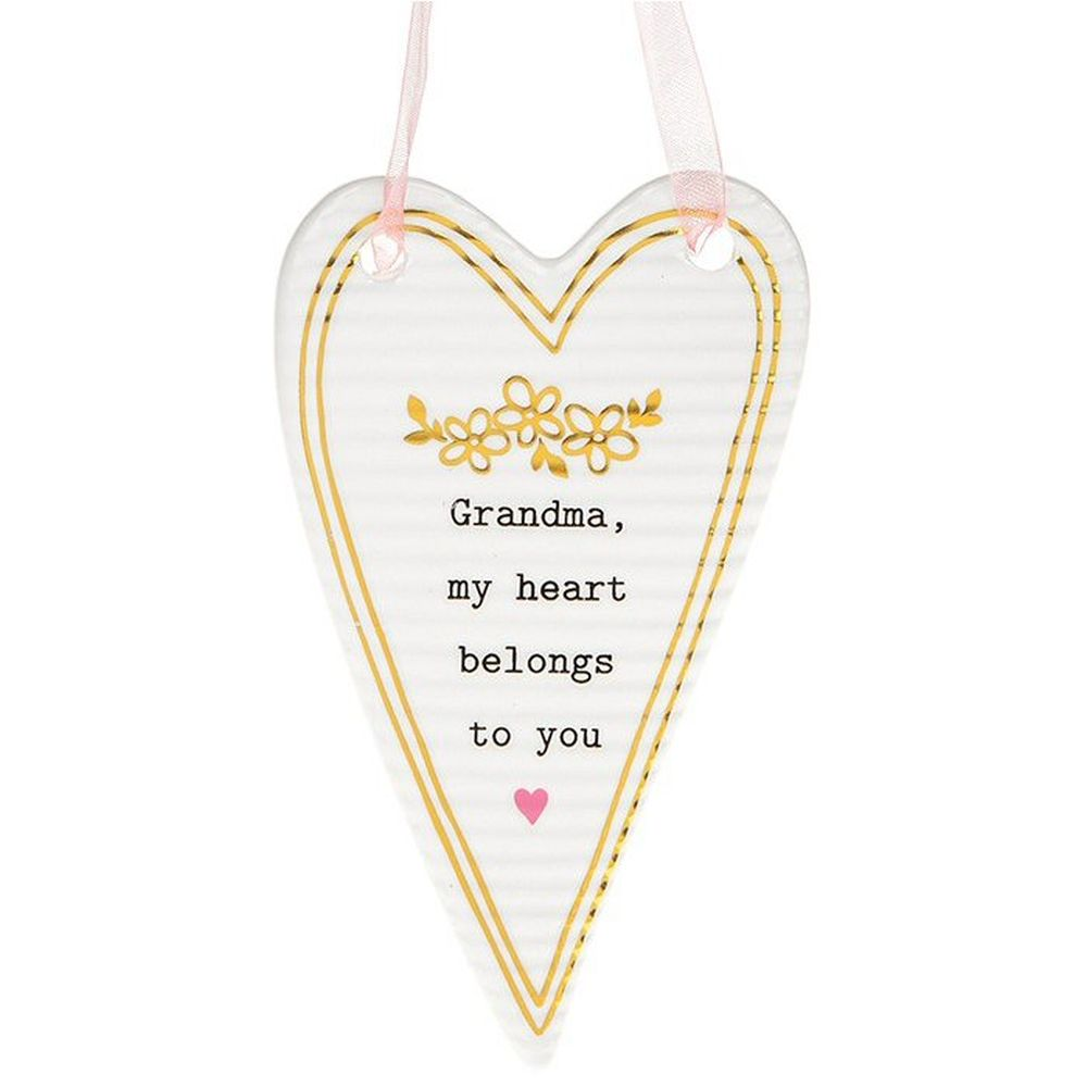 Thoughtful Words Grandma Heart Plaque
