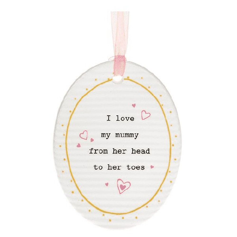 Thoughtful Words Mummy Oval Plaque