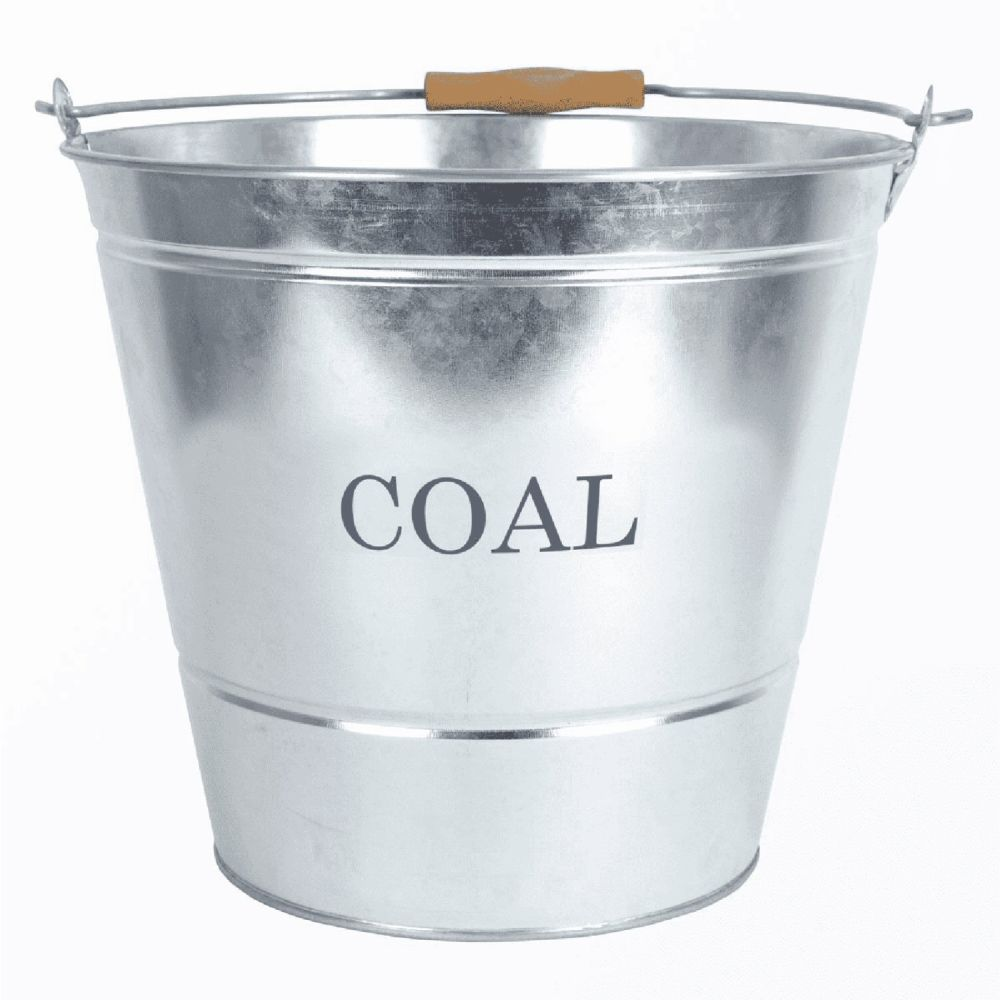 Manor 32cm Galvanised Coal Bucket