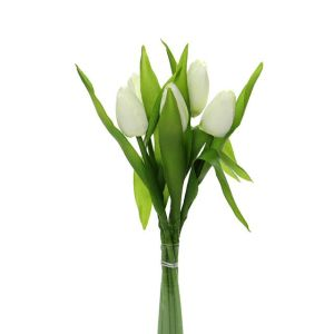 36cm Artificial Cream Tulip Bunch