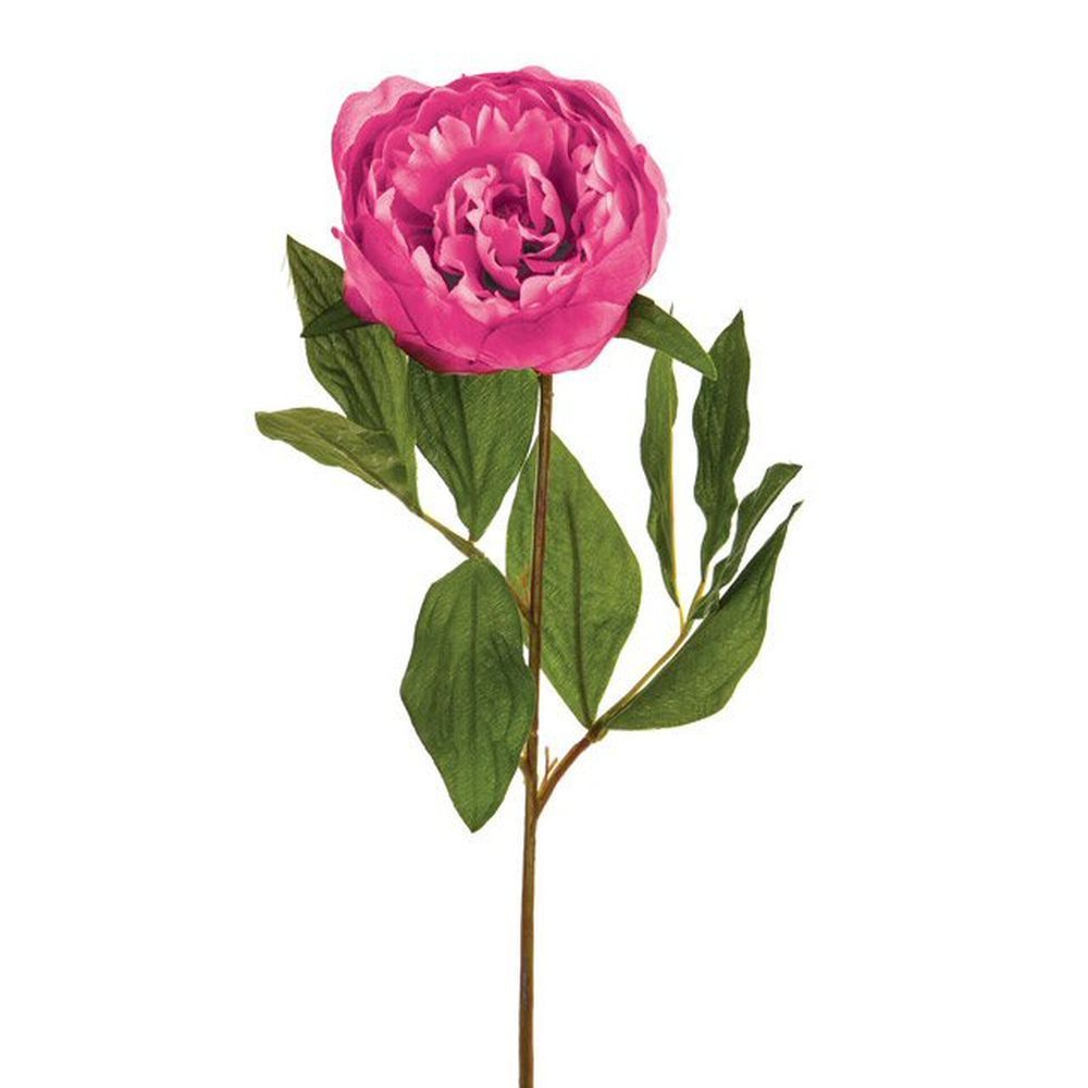 64cm Artificial Pale Pink Peony Stem