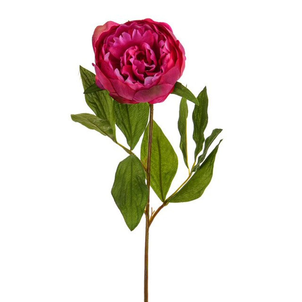 64cm Artificial Two Tone Pink Peony Stem