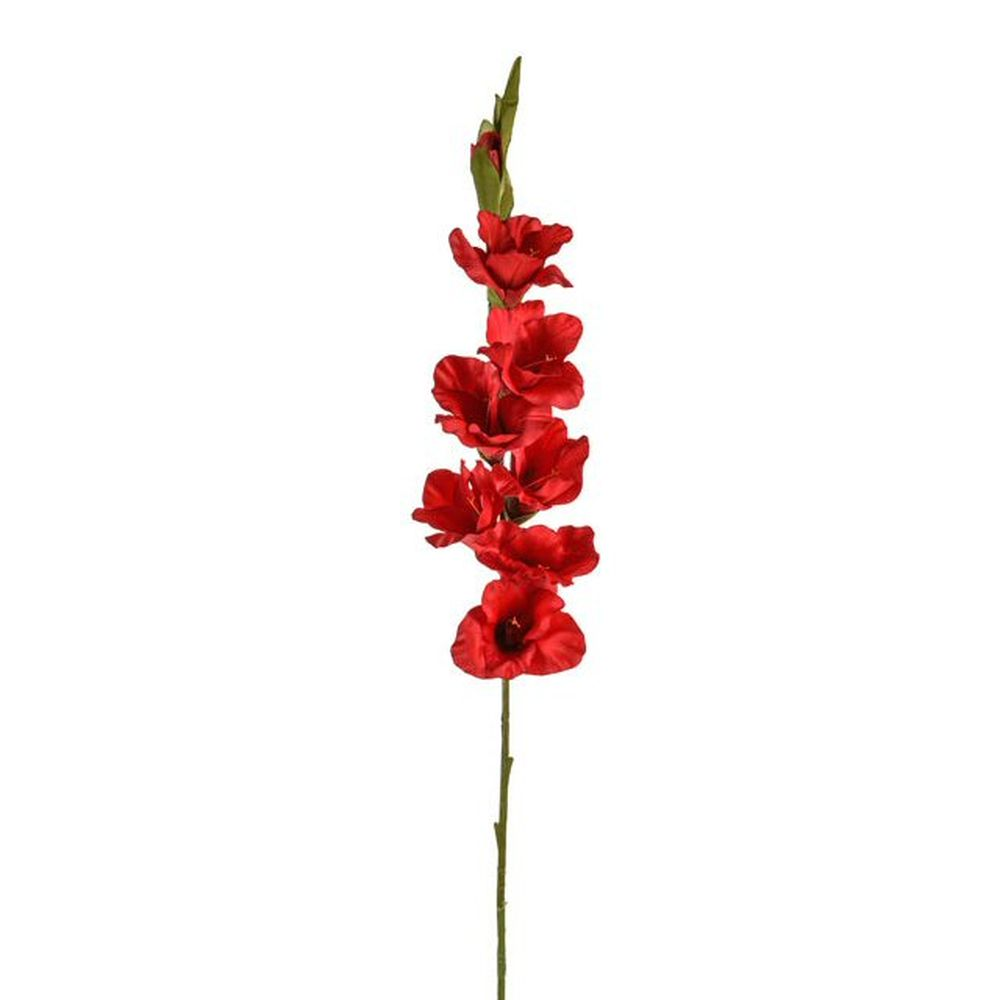 96cm Artificial Red Gladiola Stem
