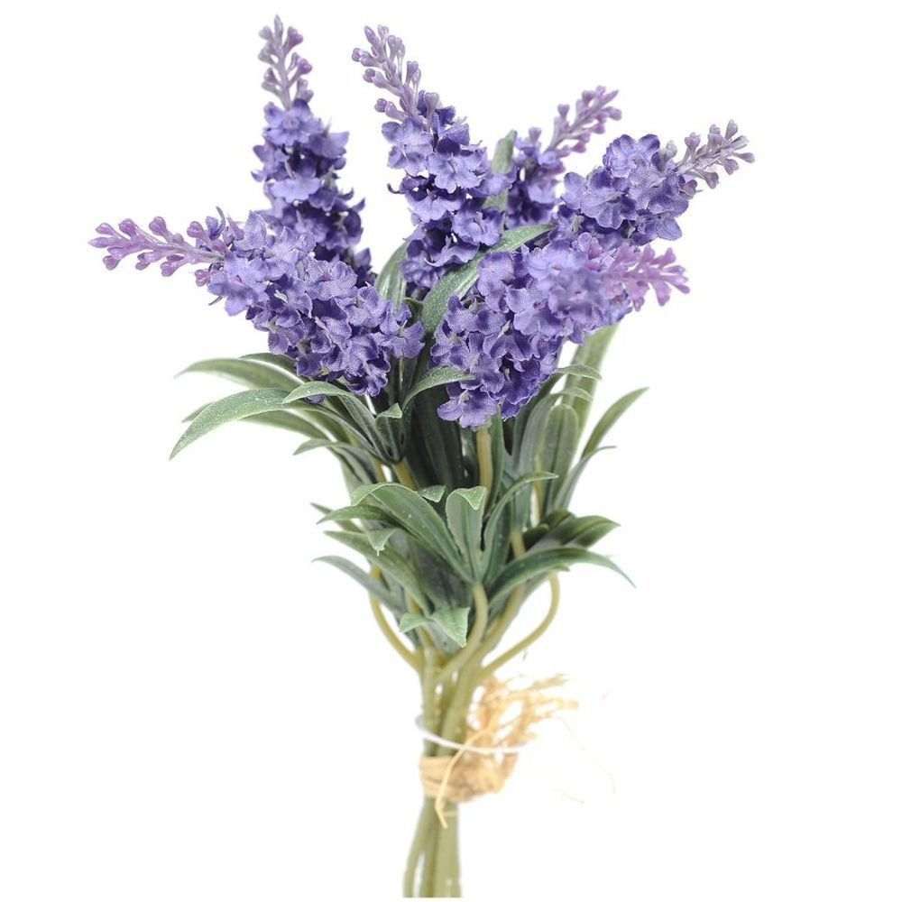 34cm Artificial Purple Lavender Stem in Bloom