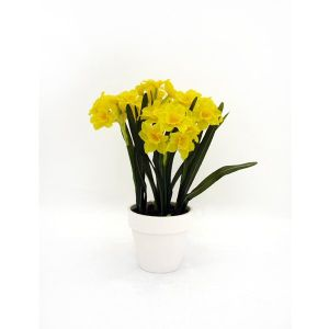 37cm Artificial Potted Daffodil Plant