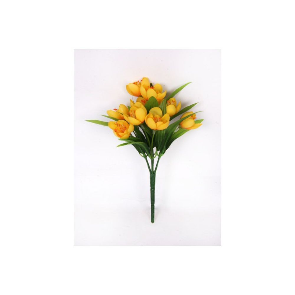 23cm Yellow Crocus Bush