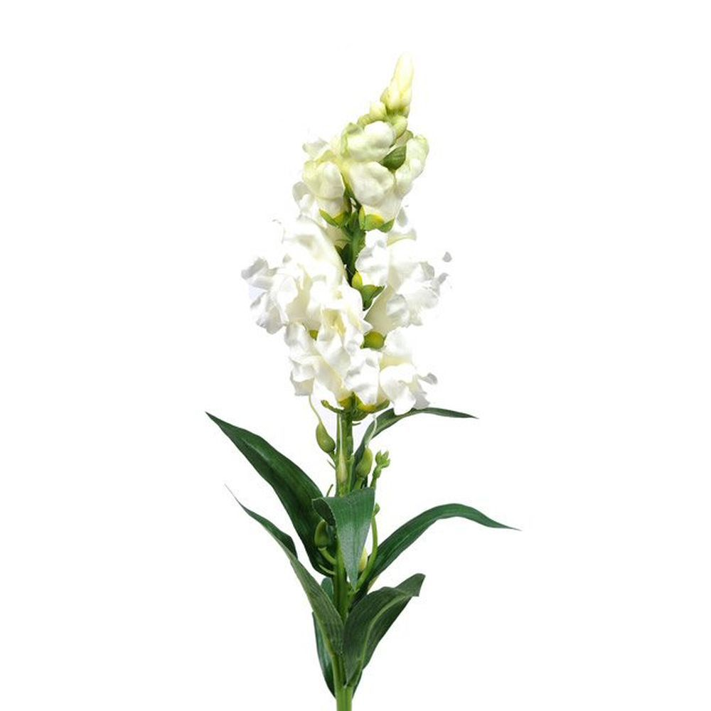59cm Artificial White Snapdragon Flower