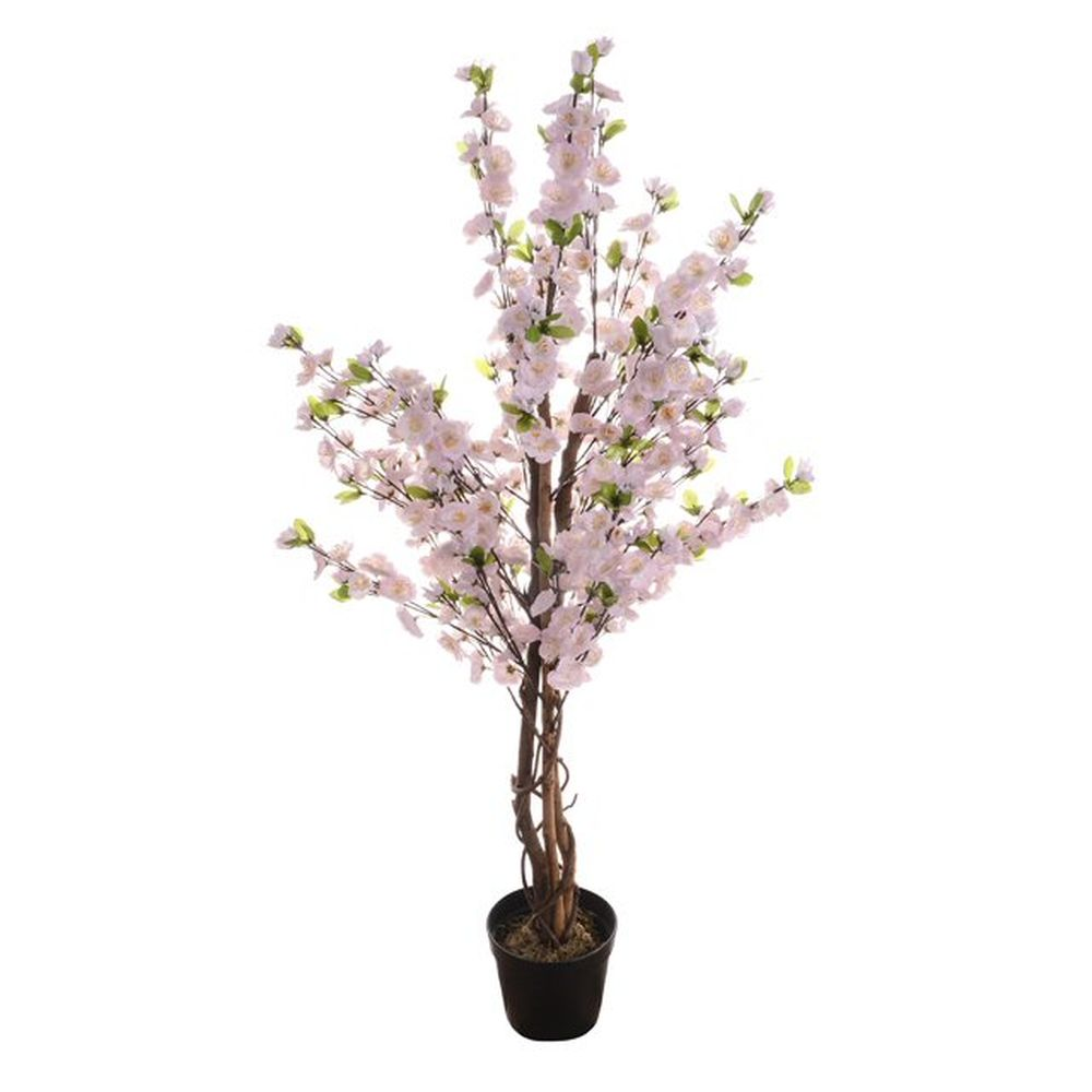 120cm Artificial Pink Potted Blossom Tree