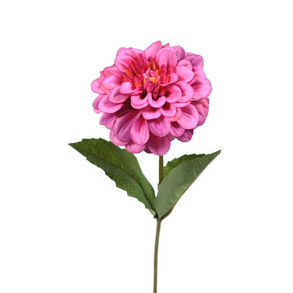 46cm Artificial Pink Zinnia Stem