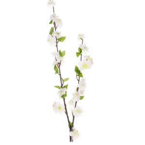 91cm Artificial Cream Peach Blossom Spray