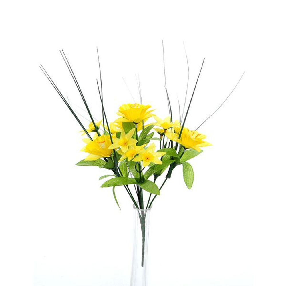 30cm Yellow Mini Bush Floral Daffodil
