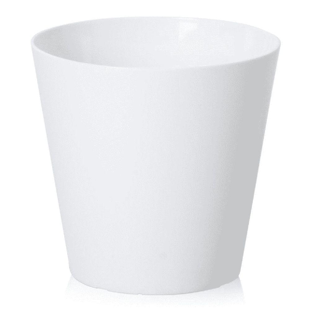 Wham 30cm Ice White Round Planter Cover / Waste Bin