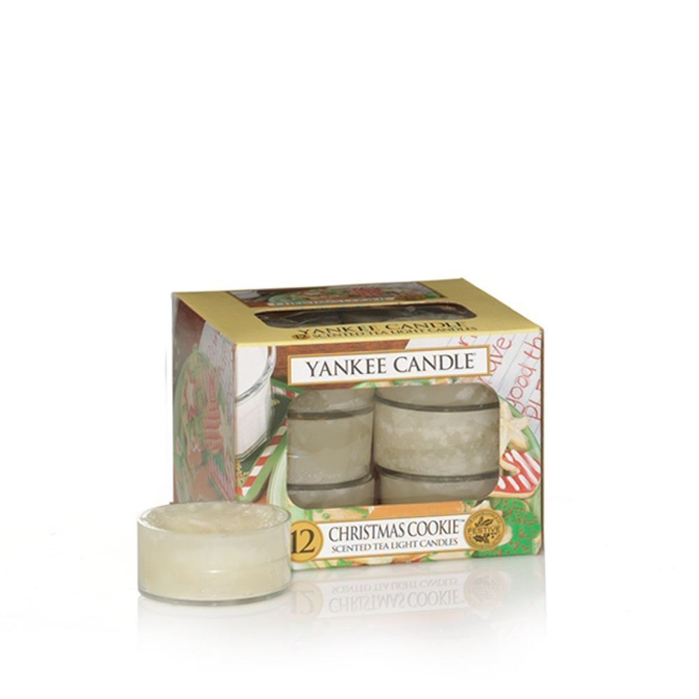 Yankee Candle Pack of 12 Christmas Cookie Tealights