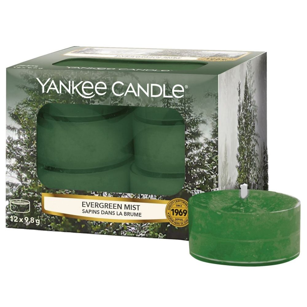 Yankee Candle Pack of 12 Evergreen Mist Tealights