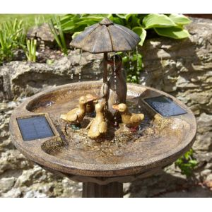 Smart Garden 84cm Solar Powered Duck Family Water Feature