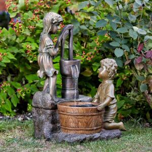 Smart Garden 61cm Solar Powered Water Pump Water Feature