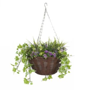 Smart Garden 30cm Purple & Yellow Hanging Basket