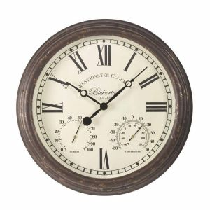 Smart Garden Bickerton 15 Inch Wall Clock & Thermometer