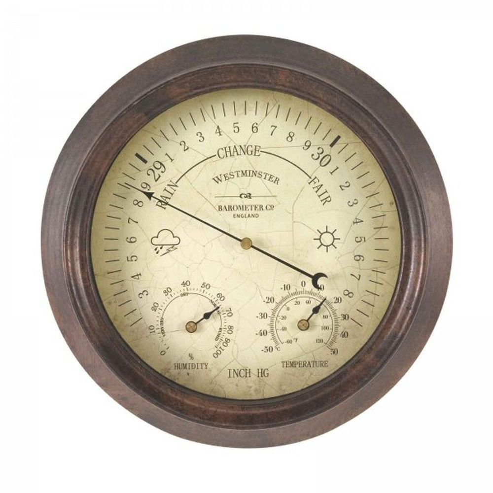 "Outside In  8"" Westminster Barometer & Thermometer"
