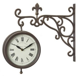 Smart Garden 8Inch Marylebone Station Wall Clock & Thermometer