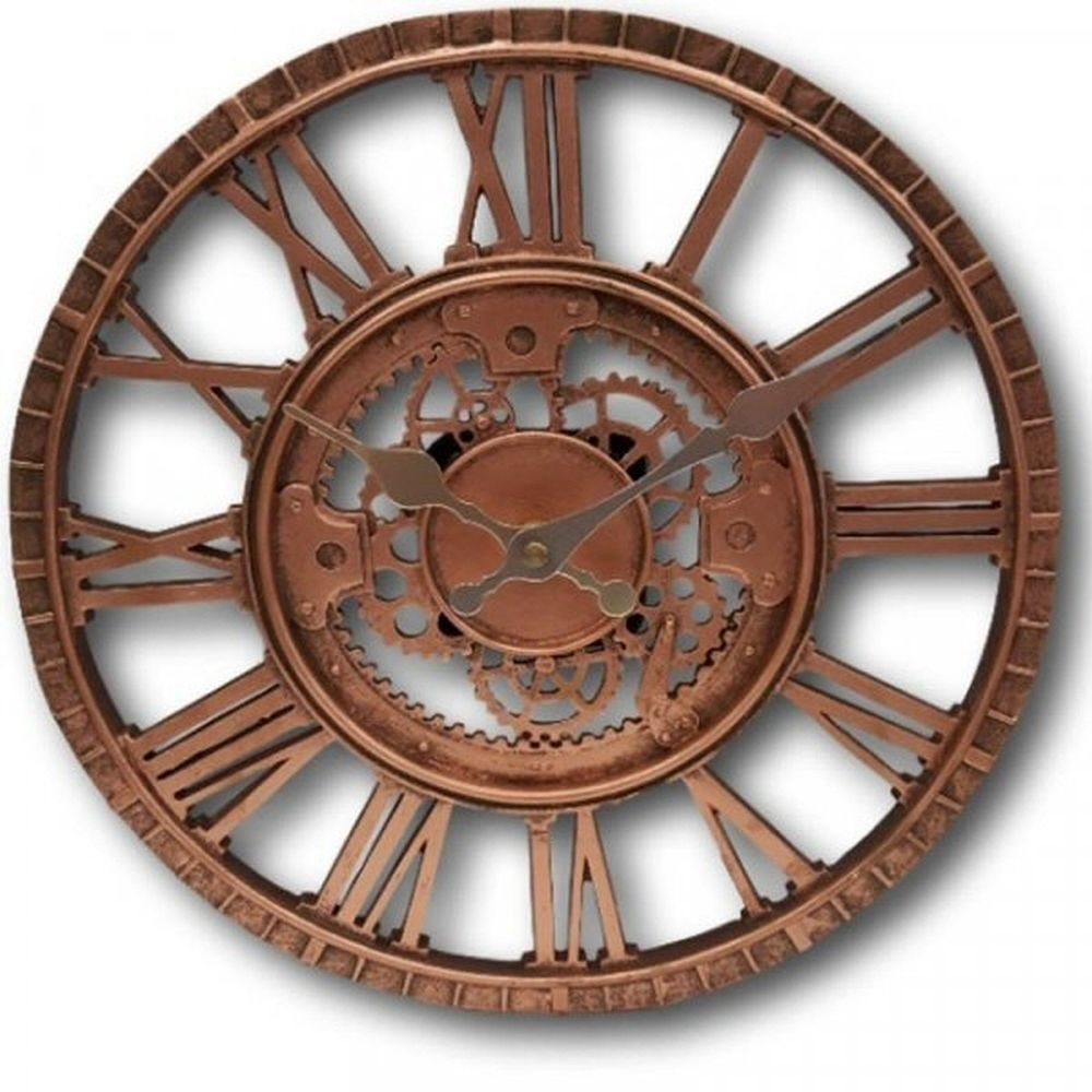 "Smart Garden Newby 12"" Mechanical Wall Clock - Bronze"
