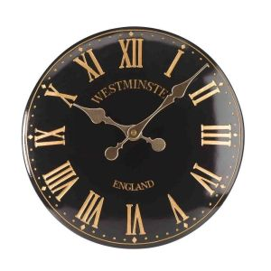 Smart Garden 15 Inch Westminster Black Tower Wall Clock