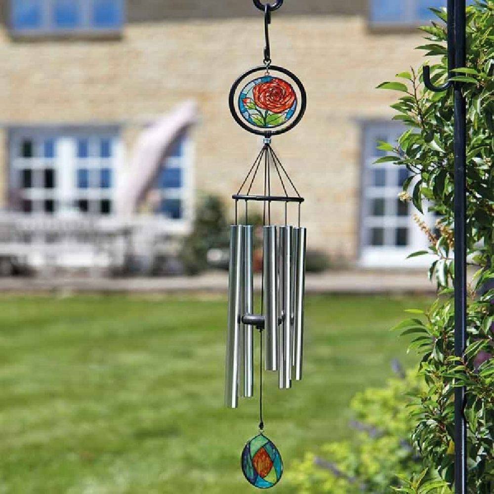 Smart Garden Glass Rose Windchime