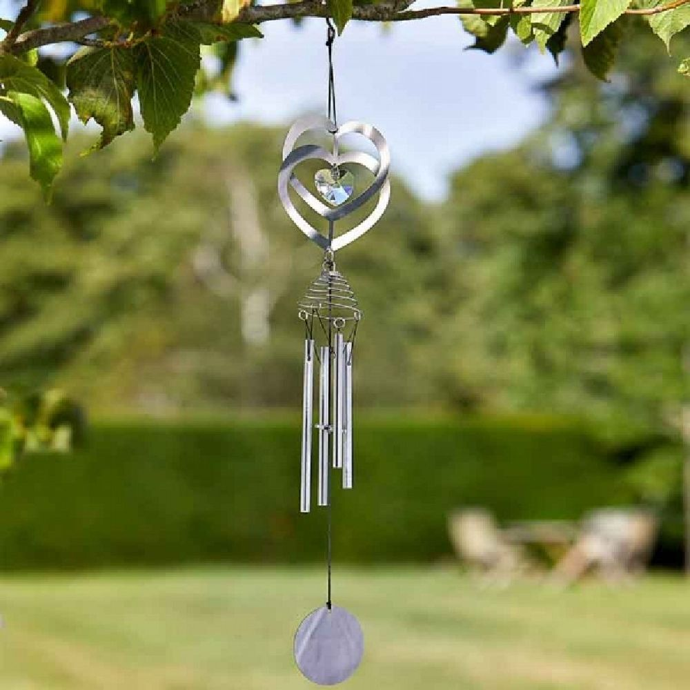 Smart Garden Crystal Heart Windchime